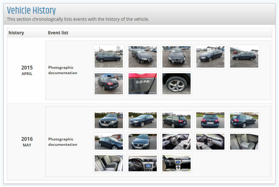 Run a vehicle history check by VIN